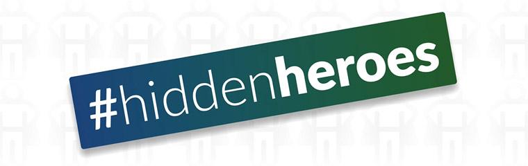 Hidden Heroes text banner