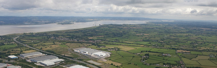 Aerial photo of Avonmouth Severnside